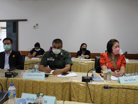 ประชุมการจัดการเรียนการสอนในสถานการณ์การแพร่ระบาดของโรคโควิด 19